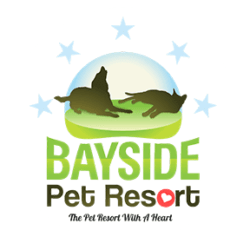logo for bayside pet resort